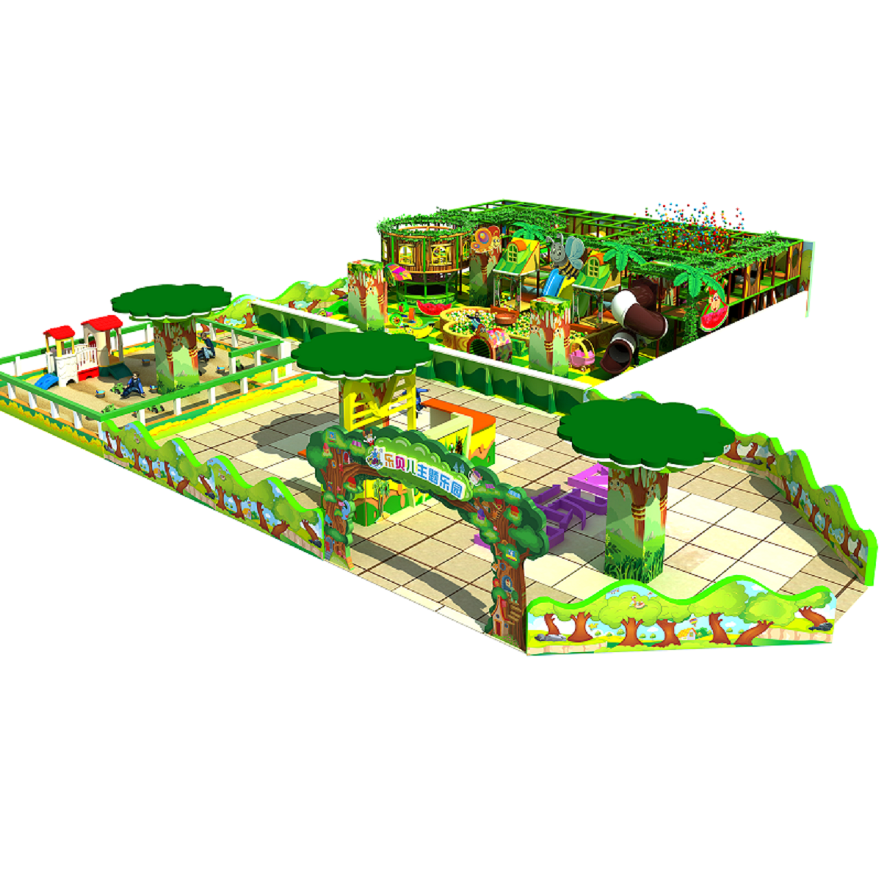 Forest Style Kids Playground Naughty Castle