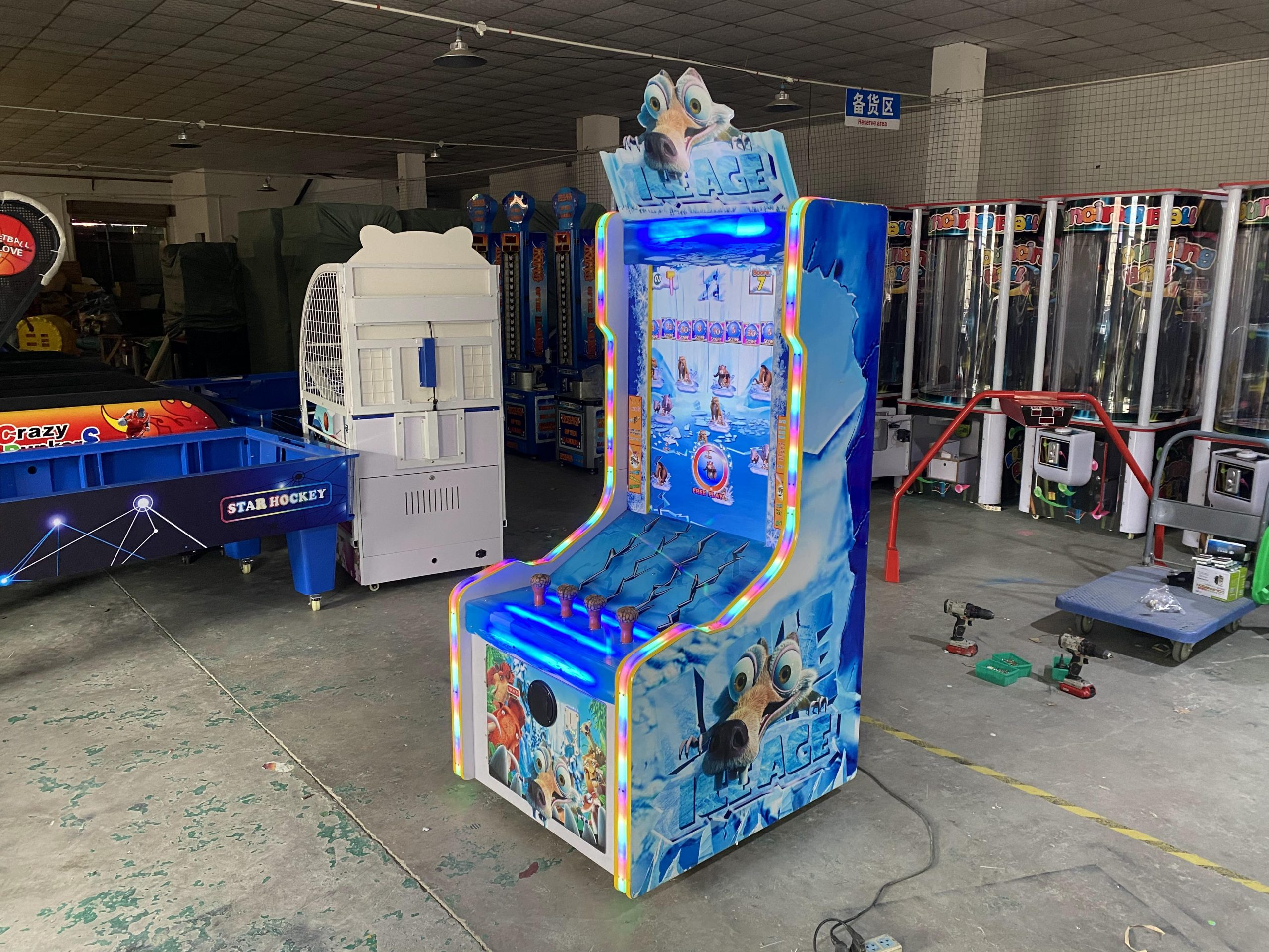 Ice Age Redemption Tcket Lottery Video Arcade Game Machine