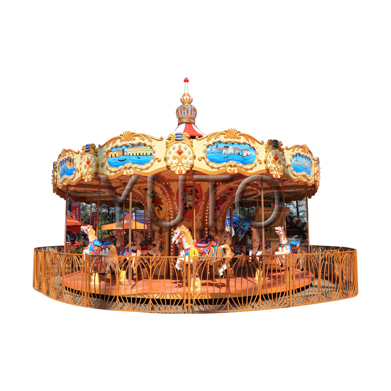 Factory Price Outdoor Ride Artistic Carousel