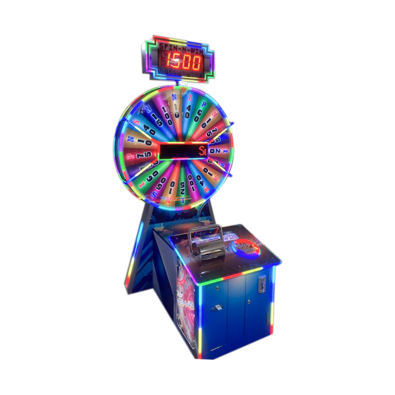 Coin Operated Spin Win Redemption Game Machine
