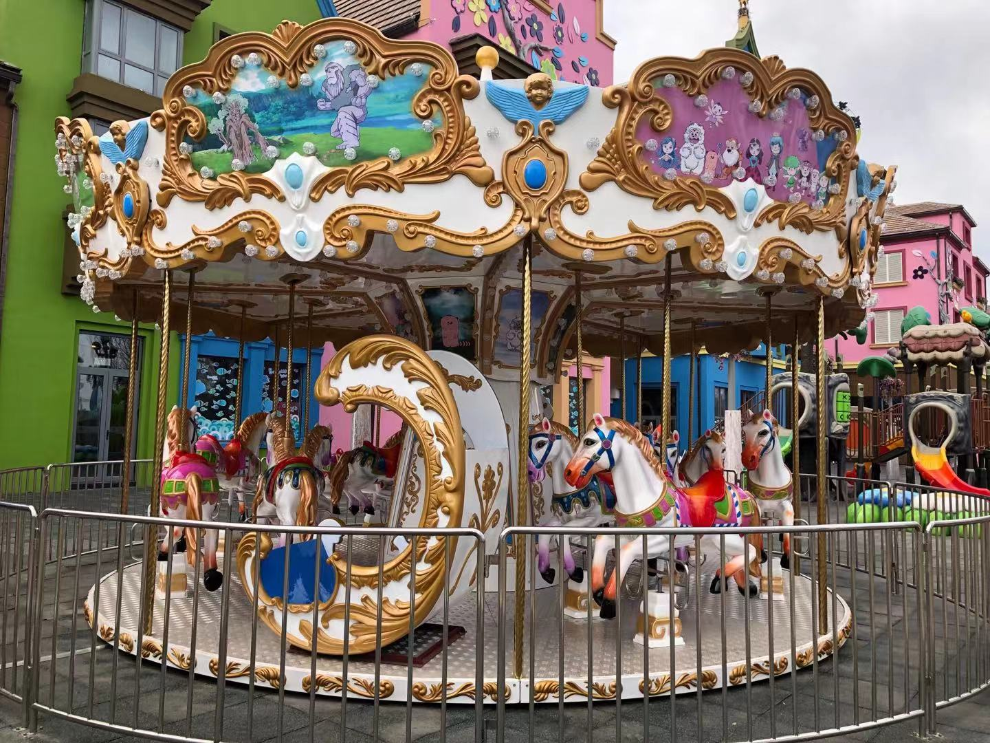 Outdoor Luxury 16 Seat Carousel For Sale