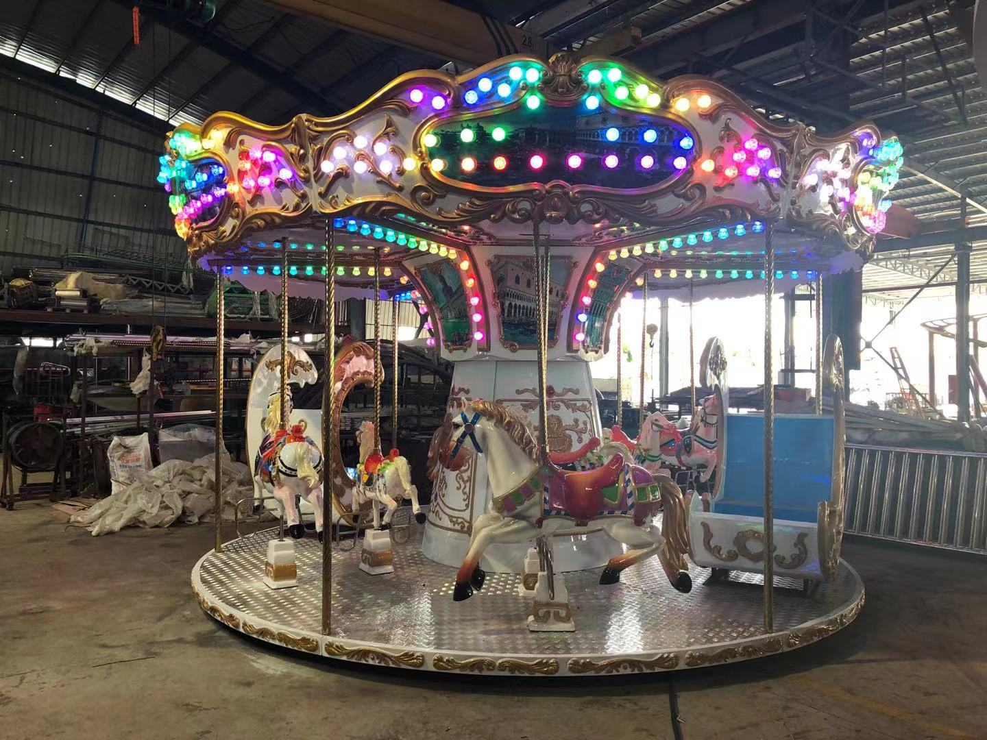 Outdoor Luxury 12 Seat Carousel For Sale