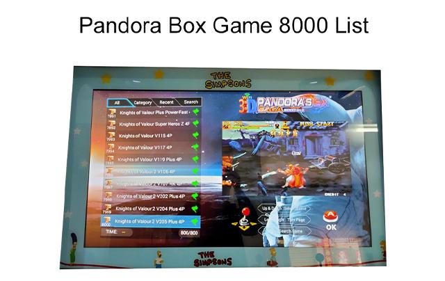 Pandora Box Game 8000 List